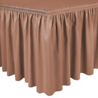 Shirred 13-Foot Polyester Table Skirt in Coral