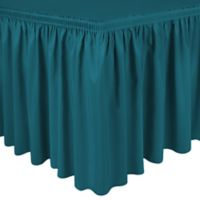 Shirred 11-Foot in Polyester Table Skirt in Teal
