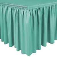 Shirred 11-Foot in Polyester Table Skirt in Jade