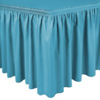 Shirred 11-Foot in Polyester Table Skirt in Turquoise
