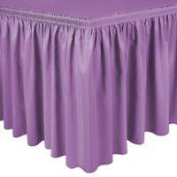 Shirred 11-Foot Polyester Table Skirt in Lilac