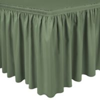 Shirred 11-Foot Polyester Table Skirt in Sea Mist