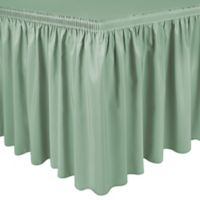 Shirred 11-Foot Polyester Table Skirt in Mint