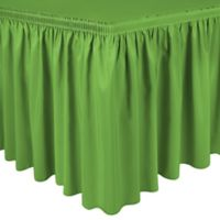 Shirred 11-Foot Polyester Table Skirt in Lime