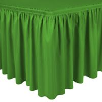 Shirred 11-Foot Polyester Table Skirt in Kelly