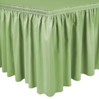 Shirred 11-Foot Polyester Table Skirt in Sage