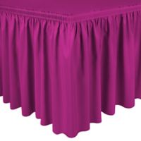 Shirred 11-Foot Polyester Table Skirt in Hot Pink