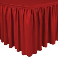 Shirred 11-Foot Polyester Table Skirt in Cherry Red