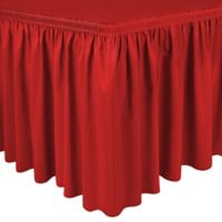 Shirred 11-Foot Polyester Table Skirt in Holiday Red