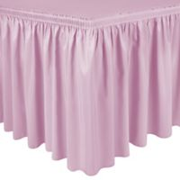 Shirred 11-Foot Polyester Table Skirt in Ice Pink