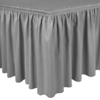 Shirred 11-Foot Polyester Table Skirt in Silver