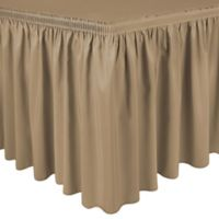 Shirred 11-Foot Polyester Table Skirt in Toast