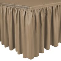 Shirred 11-Foot Polyester Table Skirt in Camel