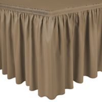 Shirred 11-Foot Polyester Table Skirt in Café