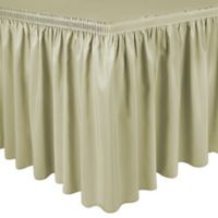 Shirred 11-Foot Polyester Table Skirt in Maize
