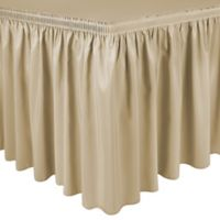 Shirred 11-Foot Polyester Table Skirt in Honey