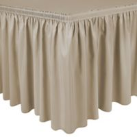 Shirred 11-Foot Polyester Table Skirt in Tan