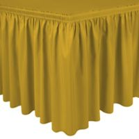 Shirred 13-Foot Polyester Table Skirt in Goldenrod