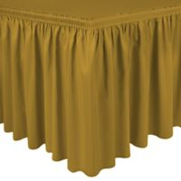 Shirred 11-Foot Polyester Table Skirt in Gold