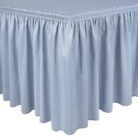 Shirred 13-Foot Polyester Table Skirt in Ice Blue