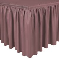 Shirred 13-Foot Polyester Table Skirt in Mauve