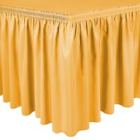 Shirred 13-Foot Polyester Table Skirt in Neon Orange