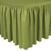 Shirred 17-Foot Polyester Table Skirt in Acid Green
