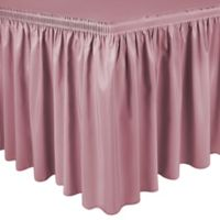 Shirred 17-Foot Polyester Table Skirt in Dusty Rose