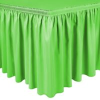 Shirred 13-Foot Polyester Table Skirt in Neon Green
