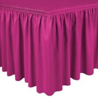 Shirred 11-Foot Polyester Table Skirt in Watermelon