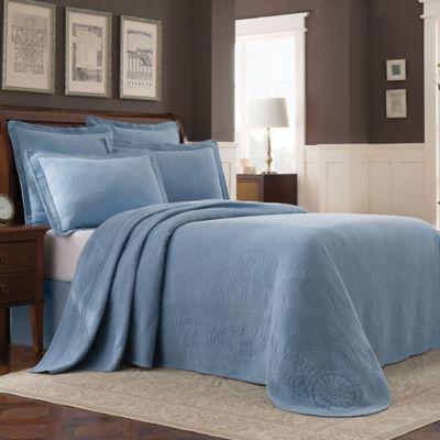 Williamsburg Abby Queen Bedspread In Blue