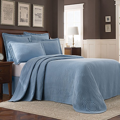 Buy Williamsburg Abby Twin Bedspread In Blue From Bed Bath