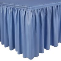 Shirred 11-Foot Polyester Table Skirt in Periwinkle