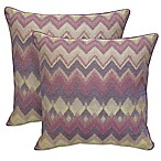 Arlee Home Fashions® Bianca Chenille Chevron Square Throw Pillow in Plum (Set of 2)