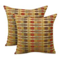 Arlee Home Fashions® Othello Jacquard Geometric Square Throw Pillow in Brick (Set of 2)