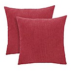 Arlee Home Fashions® Textured Woven Square Throw Pillow in Brick (Set of 2)
