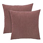 Arlee Home Fashions® Textured Woven Square Throw Pillow in Earth (Set of 2)