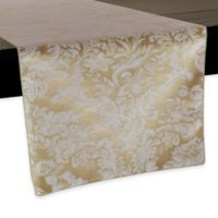 Miranda Damask 108-Inch Table Runner in Champagne