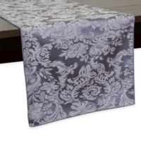 Miranda Damask 72-Inch Table Runner in Pewter