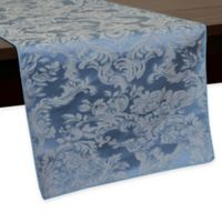 Miranda Damask 54-Inch Table Runner in Slate Blue