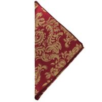 Miranda Damask Napkins in Bordeaux (Set of 4)