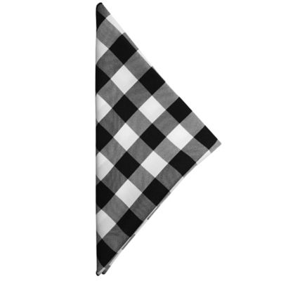 Gingham Poly Check Napkins In Black/White (Set Of 4)