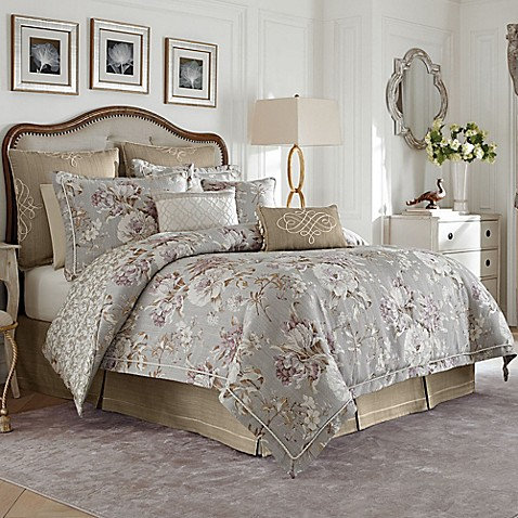 Croscill victoria reversible comforter set bed bath - Bed bath and beyond bedroom furniture ...