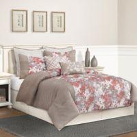 Skye King Comforter Set in Taupe