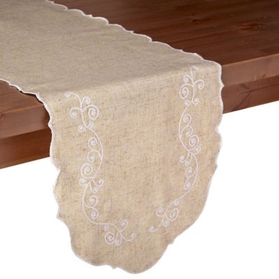 Lenox® French Perle 54 Inch Table Runner In Linen