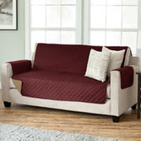 Kaylee Collection Reversible Sofa-Size Furniture Protector in Burgundy/Taupe