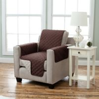 Kaylee Collection Reversible Chair-Size Furniture Protector in Chocolate/Flax