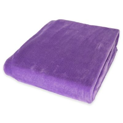 Plush Velvet Throw Blanket In Purple