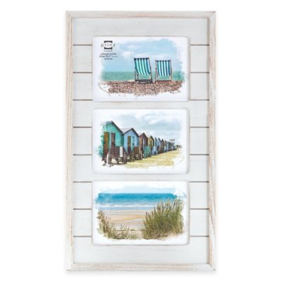 prinz driftwood 3 photo 5 inch x 7 inch wood plank collage frame