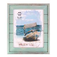 Prinz Driftwood 8-Inch x 10-Inch Wood Plank Frame in Aqua